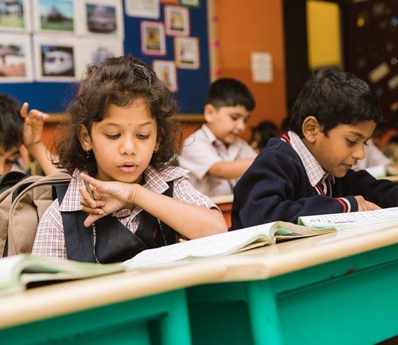 Students Learning in RV Public School