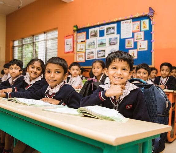 Students in a Classroom of RV Public School - Bangalore