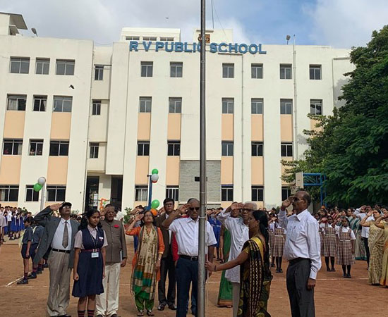 Flag Hoisting Ceremony at RV Public School