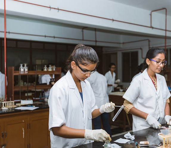 Science Lab Session in NMKRV College for Women