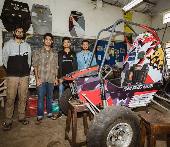 RVCE Student Team showcasing their designed Racing Cart