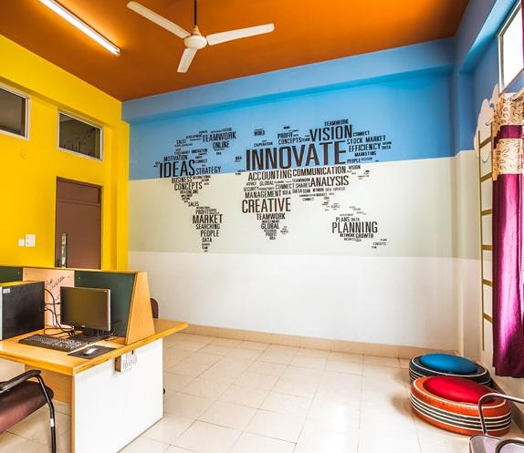 Study room at RVIM - MBA College in Bangalore